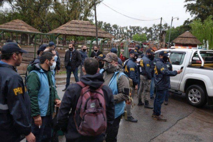 El allanamiento ordenado por la Justicia fue coordinado con Ambiente y las fuerzas de seguridad.