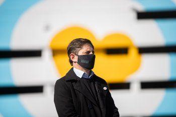 El gobernador bonaerense Axel Kicillof festejó el Pilar el primer hito de la campaña de vacunación: 3.000.000 de bonaerenses con al menos una dosis.