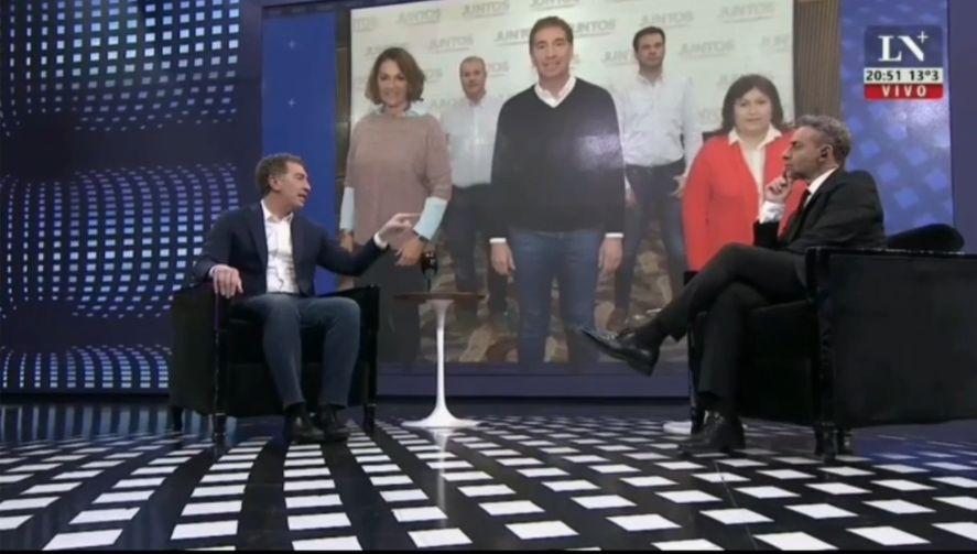 Diego Santilli junto a Luis Majul en La Nacion+