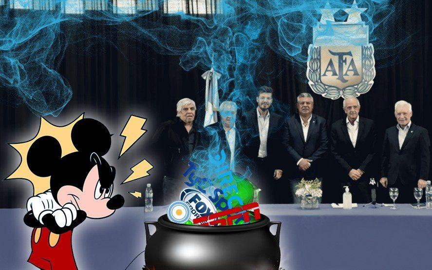 Efecto Disney: el fútbol argentino y el tironeo por los derechos de transmisión