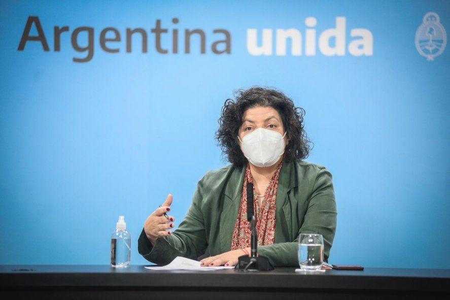 La ministra de Salud, Carla Vizzotti, confirmó la llegada de más vacunas a la Argentina