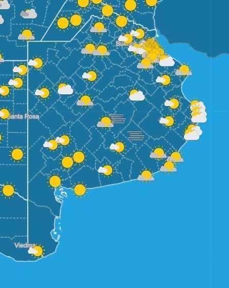 El SMN informó cómo estará el tiempo este fin de semana en la Provincia de Buenos Aires.
