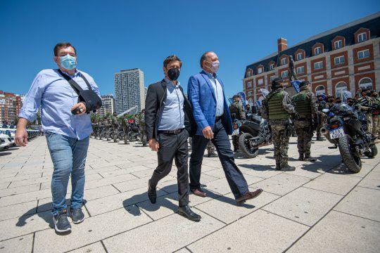 Montenegro, Kicillof y Berni en el lanzamiento del Operativo Sol