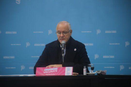 El ministro de Salud bonaerense, Daniel Gollán, encabezó una nueva conferencia de prensa con la situación epidemiológica por coronavirus.