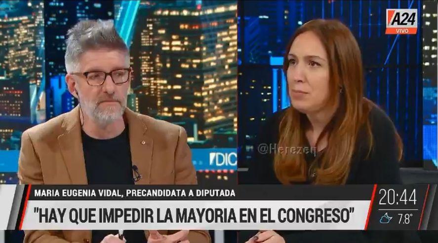 Omnipresente: Se prende la tele y aparece María Eugenia Vidal