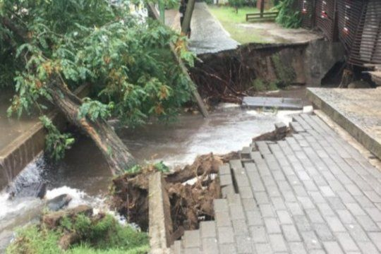 Terrible temporal en Pinamar.