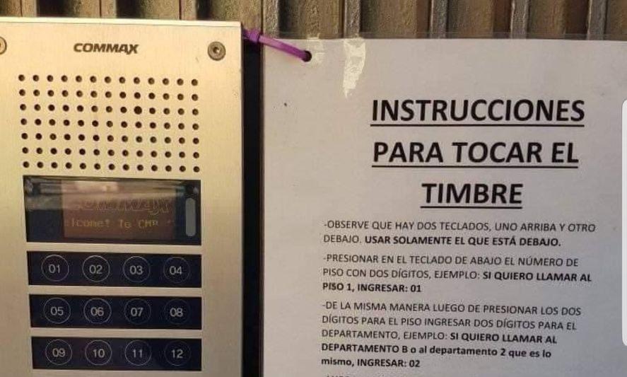 Las instrucciones para tocar el timbre que se volvieron virales
