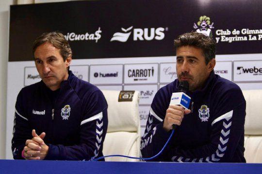 Leandro Martini y Mariano Messera, entrenadores de Gimnasia