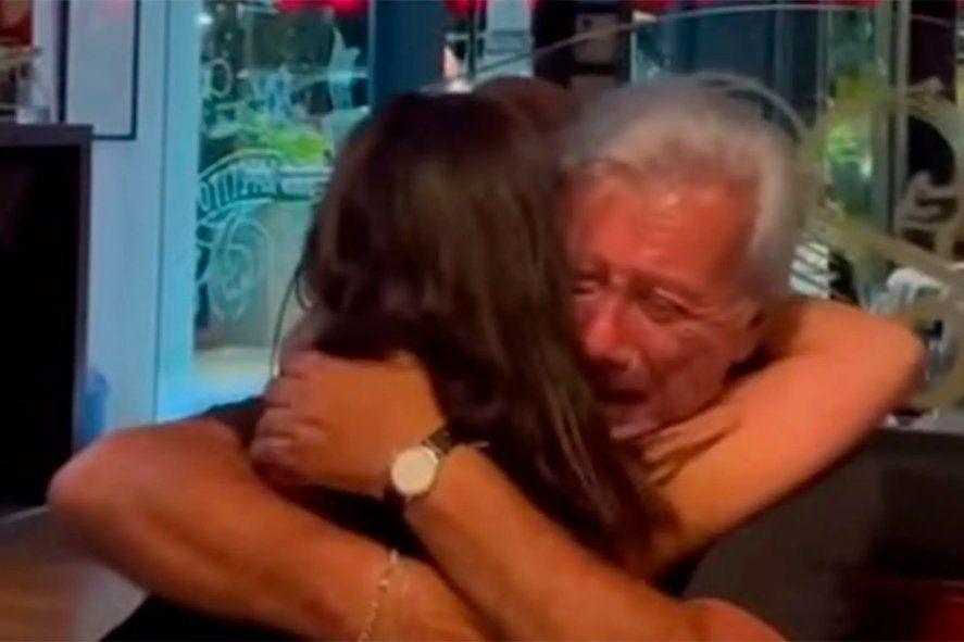 Mateyko publicó en sus redes el video del encuentro con su hija.