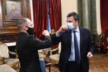 El presidente de la Cámara de Diputados, Sergio Massa, encabezó la presentación del Presupuesto 2021 junto al ministro Martín Guzmán.