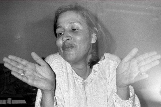 Lohana Berkins, reconocida activista travesti trans.