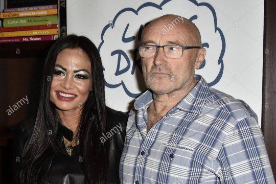 Phill Collins y su ex esposa Orianne Cevey antes de su segunda ruptura