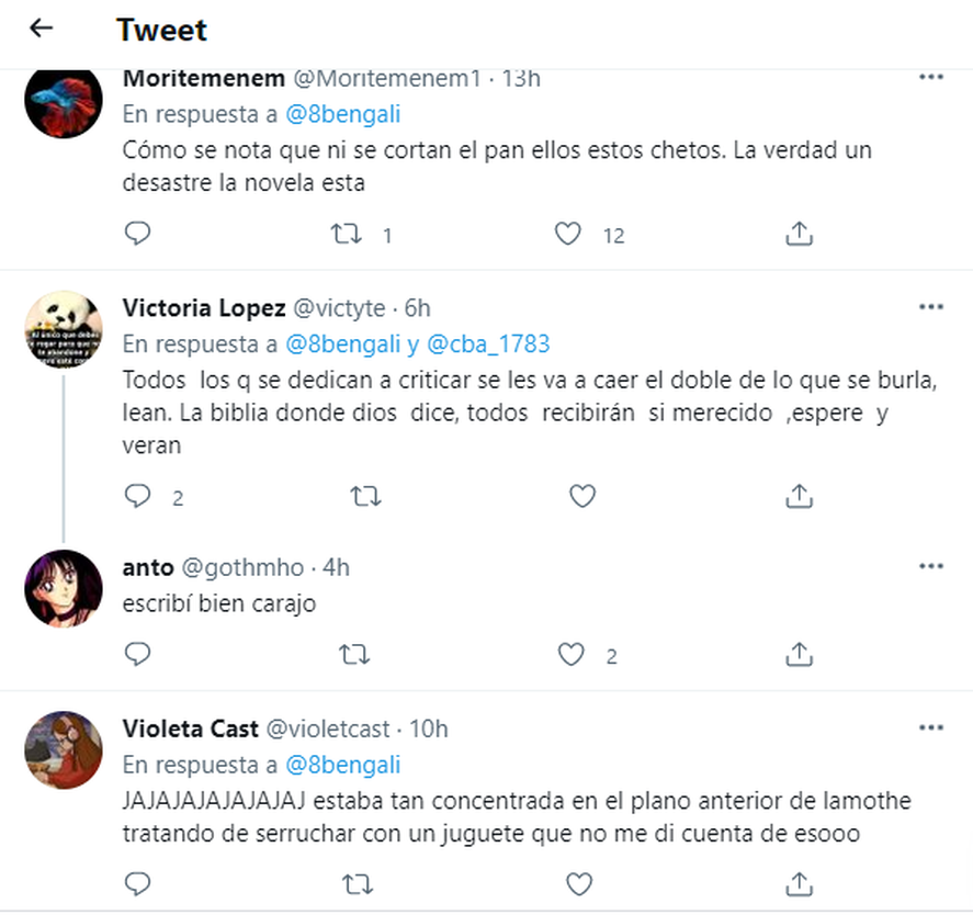 Los comentarios en Twitter por el error de Agustina Cherri en la ficción de El Trece