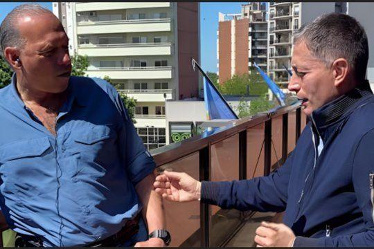 Sergio Berni y Fernando Gray se reunieron en Esteban Echeverría.