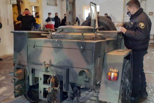 presos pusieron en valor una cocina de campana para ex combatientes de malvinas