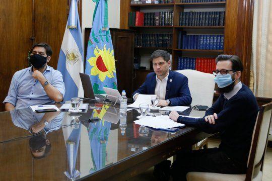 El gobernador Axel Kicillof participó de la firma de Fondos de Infraestructura Municipal (FIM) para 44 municipios bonaerenses.