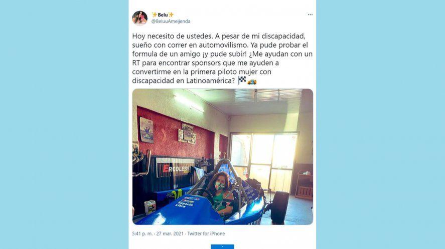 ¡Histórico!: Será la primera piloto con discapacidad de Latinoamerica
