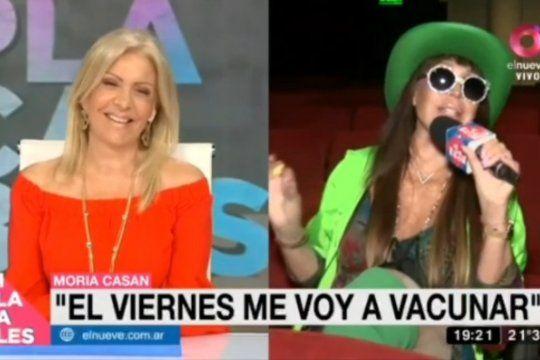 Moria Casán al anunciar que se vacuna contra el coronavirus en La Plata el viernes con la Sputnik V