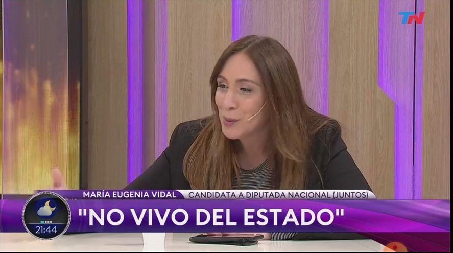 María Eugenia Vidal en TN: Yo no vivo del Estado