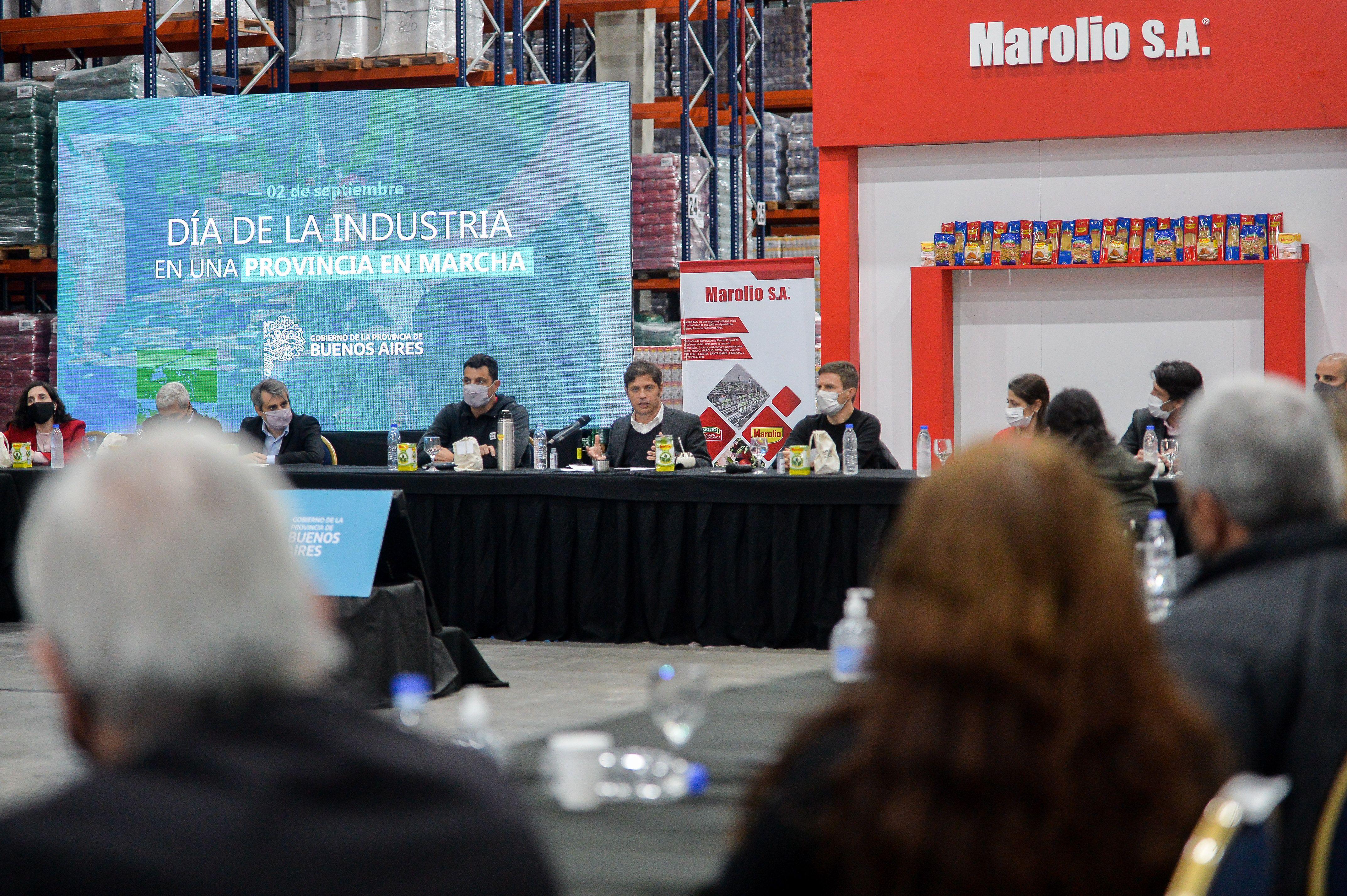 Axel Kicillof celebró el día de la industria en Marolio