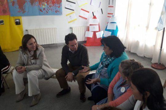 para fortalecer el vinculo, vidal y sanchez zinny se reunieron con docentes en la plata