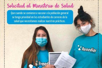 la plata: estudiantes de medicina piden prioridad para vacunarse