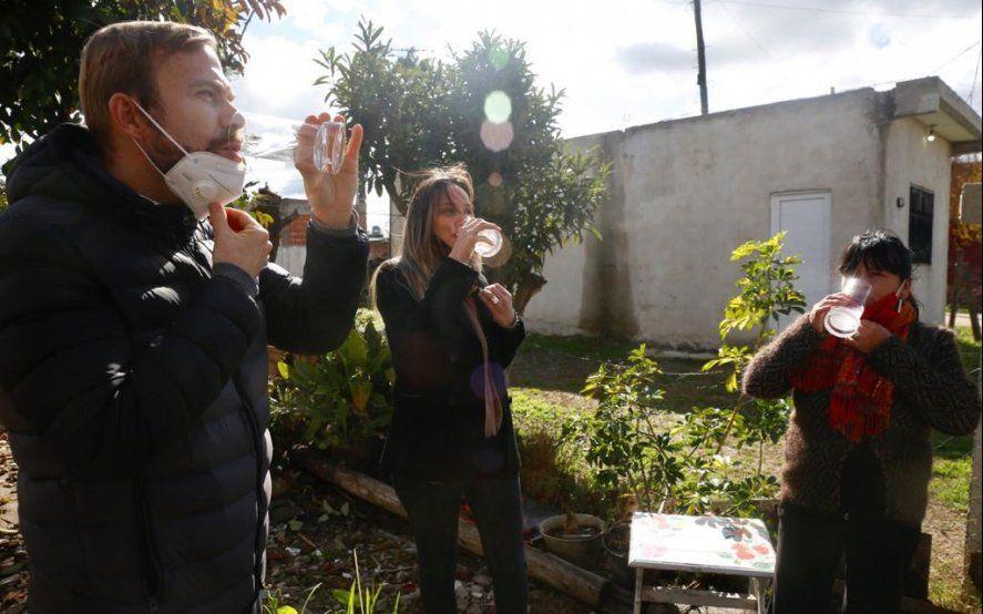 AySA inauguró una red de agua que abastece a más de 8 mil personas