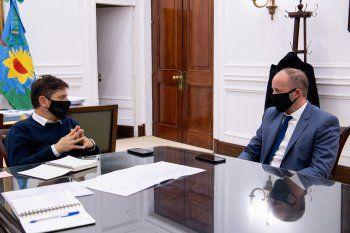 Axel Kicillof recibió a Martín Insaurralde en su despacho.
