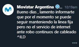 La insólita respuesta de Movistar a un usuario al que dejó sin internet en La Plata