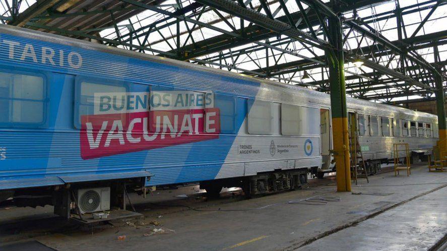 Kicillof presentó el tren sanitario para hisopados y vacunas