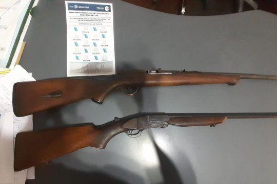 Estas dos escopetas fueron secuestradas por la UFI N° 15