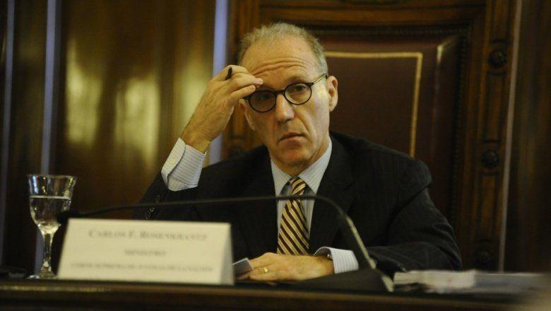 "Denunciaron penalmente al titular de la Corte Suprema, Carlos Rosenkrantz, por ""abuso de poder"""
