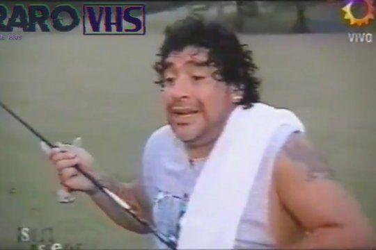 Maradona explicando sus diferencias con el rugby y los rugbiers