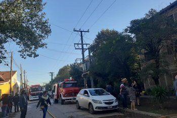 Acudieron tres dotaciones de bomberos y ambulancias del Same