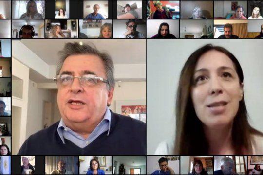 María Eugenia Vidal y Mario Negri encabezaron una videoconferencia con militantes y referentes de Juntos por el Cambio.
