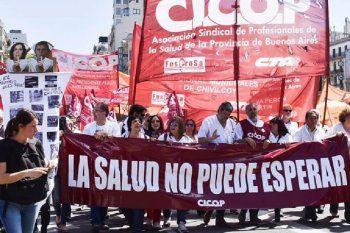 Paro de médicos y profesionales de la salud en la provincia de Buenos Aires