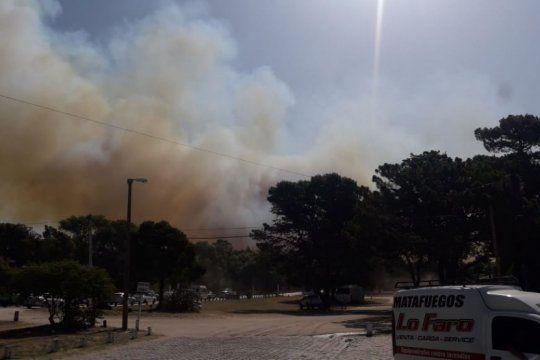 importante incendio en los bosques de villa gesell: seria intencional
