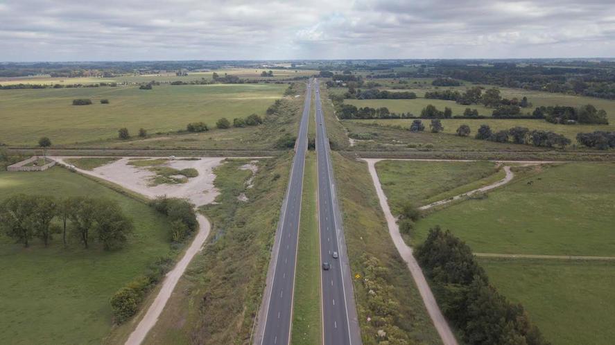 La Ruta 6 vista desde el aire