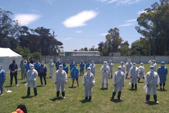 Integrantes del operativo DetectAR bailaron al ritmo de Macarena en Mar del Plata