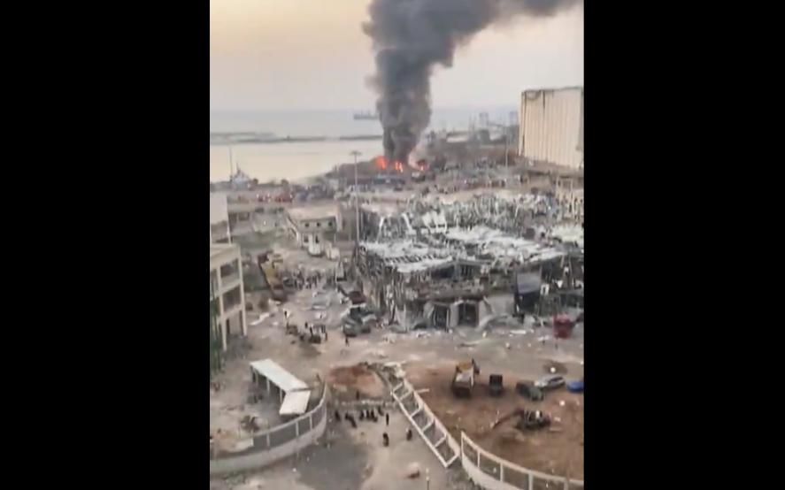 """Explosión en Beirut: destrozos y un """"incalculable"""" número de víctimas"""