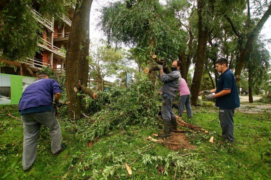El intendente Martín Yeza compartió postales de los destrozos en las redes sociales