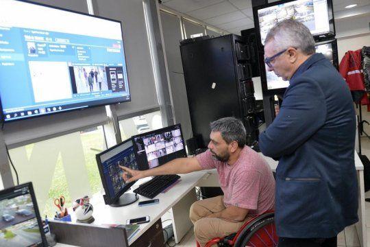 zamora presento ?neocenter?, un nuevo sistema de camaras de seguridad y reconocimiento facial