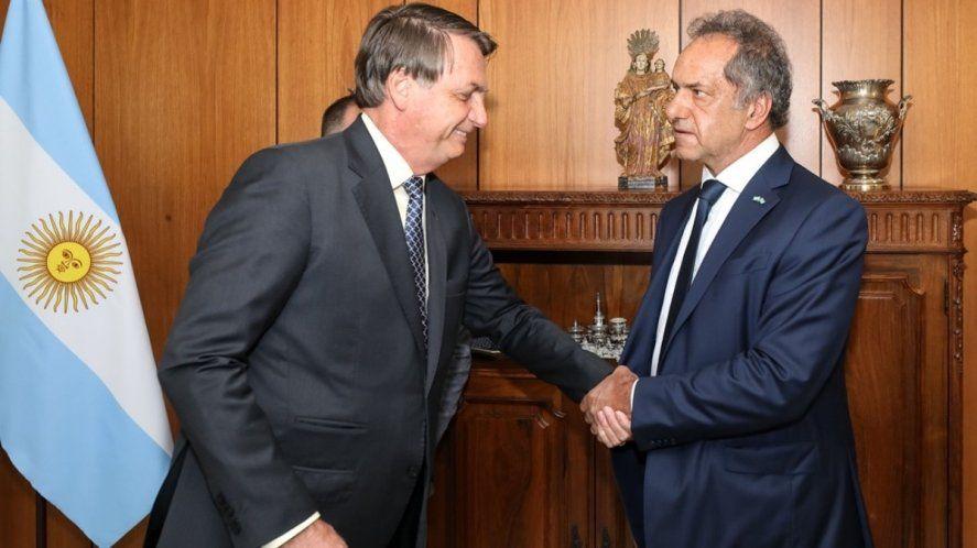 Scioli confirmó la visita de Bolsonaro a la Argentina