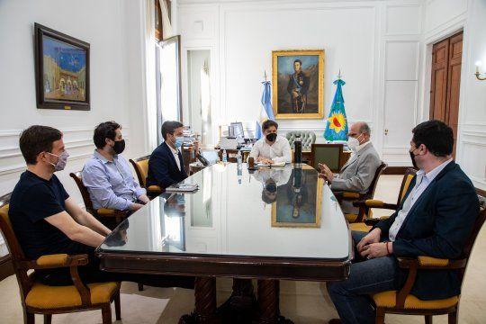 Kicillof recibió a Jorge Pampa Álvaro en la Gobernación y lo puso en funciones.