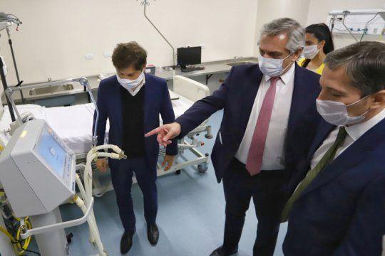 fernandez y kicillof recorrieron dos hospitales clave del conurbano en el combate contra la pandemia