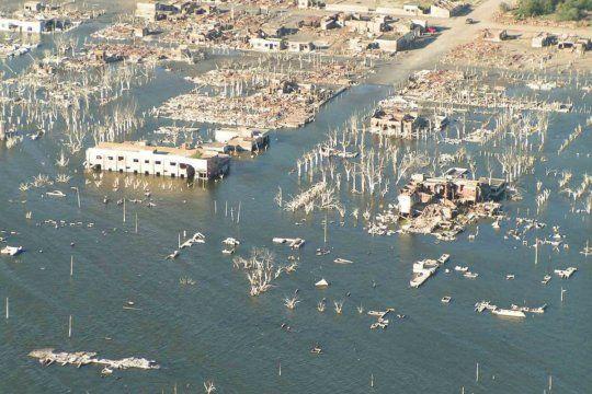 Este martes se cumplen 35 años de la inundación de Epecuén (Foto: @Venceslao)
