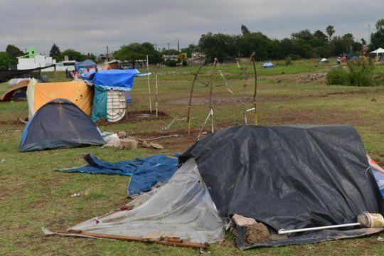 La toma de tierras fue uno de los principales conflictos en la Provincia durante la pandemia de coronavirus.