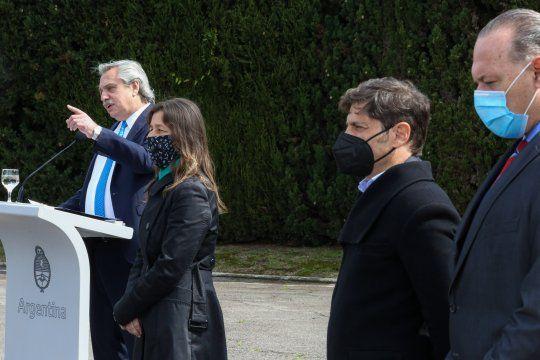 Alberto Fernández, Sabina Frederic, Axel Kicillof y Sergio Berni, ingredientes del flamante plan de seguridad para el Conurbano