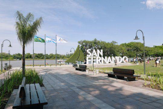 La costanera sanfernandina. Todas las fotos son gentileza de la Municipalidad.