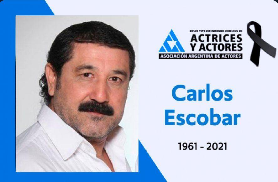 El recuerdo a Carlos Escobar de la Asociación Argentina de Actores